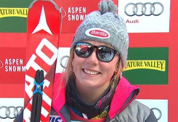Mikaela Shiffrin dominiert 1. Slalomdurchgang in Aspen