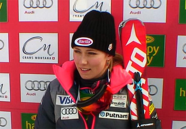 Mikaela Shiffrin meldet sich mit Zwischenführung beim Slalom von Crans-Montana zurück