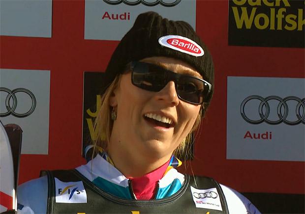 Der erste Slalomdurchgang in St. Moritz geht an Mikaela Shiffrin