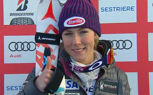 Halbzeitführung für Mikaela Shiffrin beim Slalom in Sestriere
