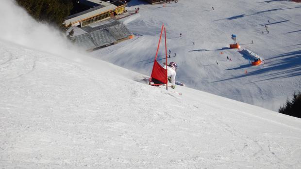 """Mikaela Shiffrin auf der Weltcuppiste """"ERTA"""" (Foto: skiworldcup-kronplatz.com)"""