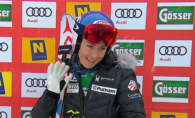 Mikaela Shiffrin auch beim 2. Riesenslalom in Semmering zur Halbzeit in Führung