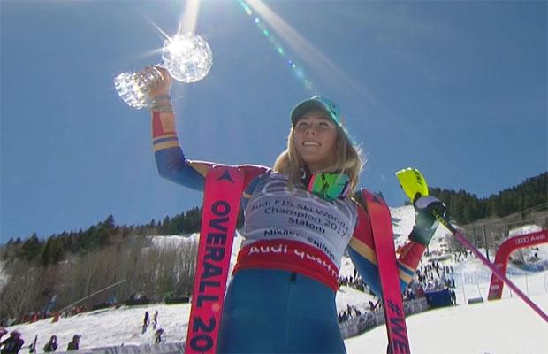 Und die kleine Slalomkugel geht wie so oft an Mikaela Shiffrin
