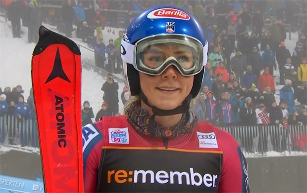 Trotz Fehlern und Nebelbänken rast Mikaela Shiffrin zum Sieg im Osloer City Event