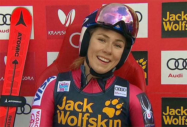 Mikaela Shiffrin ist auch im ersten Riesenslalomdurchgang in Kranjska Gora unbezwingbar