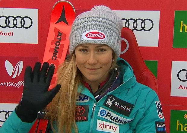 Mikaela Shiffrin dominiert auch ersten Slalom-Durchgang in Kranjska Gora