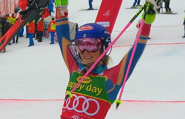 Mikaela Shiffrin gewinnt Slalom 2018 in Kranjska Gora