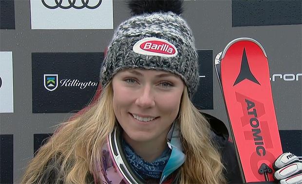 Mikaela Shiffrin liegt nach dem 1. Slalom-Durchgang in Killington in Führung