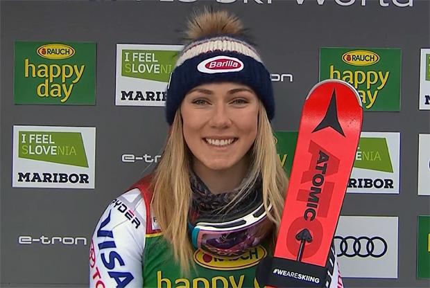 Mikaela Shiffrin dominiert ersten Slalom-Durchgang in Maribor