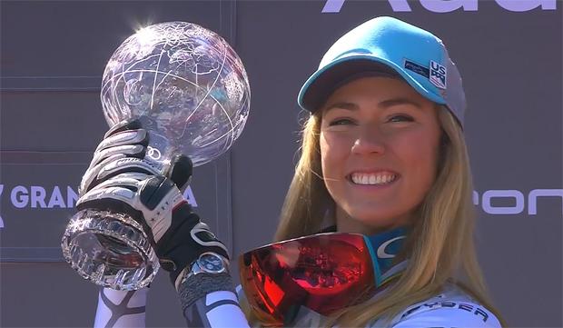 Mikaela Shiffrin und die Slalom Kristallkugel
