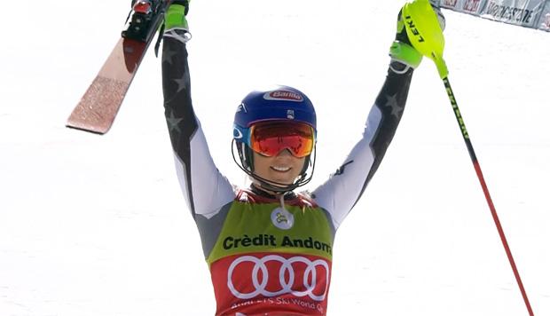 Mikaela Shiffrin gewinnt Slalom beim Weltcupfinale in Soldeu