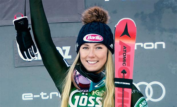 Mikaela Shiffrin steht wieder auf den Skiern