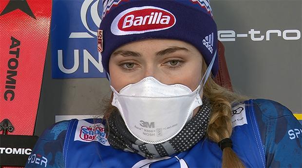Mikaela Shiffrin beim Slalom auf dem Semmering hauchdünn in Führung
