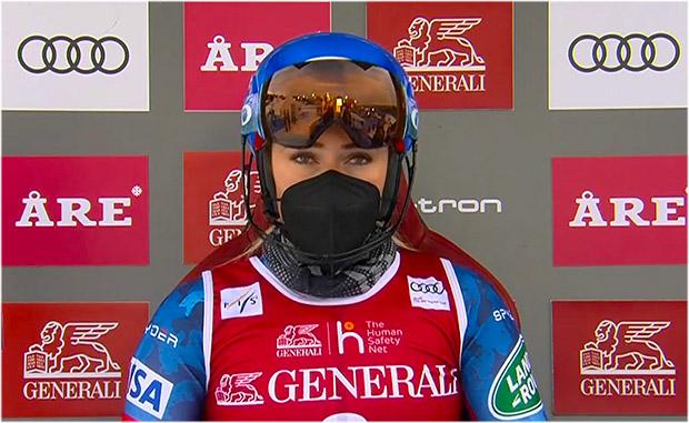 Mikaela Shiffrin übernimmt die Führung beim 2. Slalom der Damen in Are