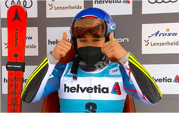 Mikaela Shiffrin übernimmt Führung beim Riesentorlauf in Lenzerheide