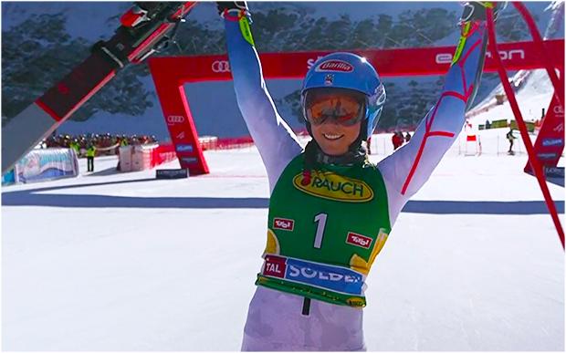 Mikaela Shiffrin gewinnt Riesenslalom Ski Weltcup Auftakt in Sölden