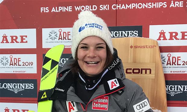 Ramona Schmidhofer blickt positiv in die Zukunft. Die knapp verpasste Kombi Bronzemedaille bei der Ski-WM 2019 ist abgehakt. (Foto © ÖSV)