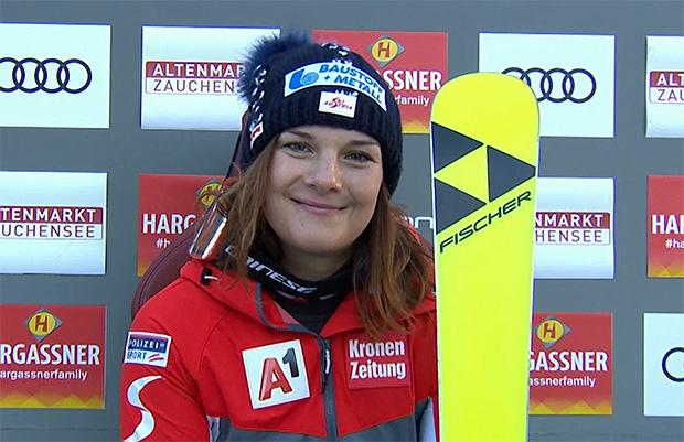 Ramona Siebenhofer mit Tagesbestzeit beim 2. Abfahrtstraining in Zauchensee