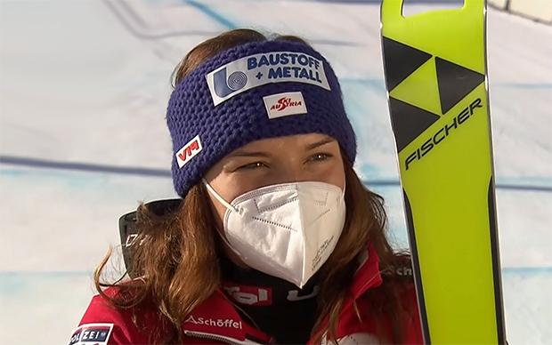 Ramona Siebenhofer wurde bei der zweiten Abfahrt in Val d'Isere Sechste