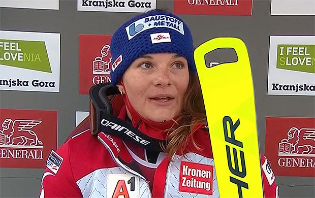 ÖSV News: Ramona Siebenhofer mit starker Leistung beim 1. Riesenslalom in Kranjska Gora