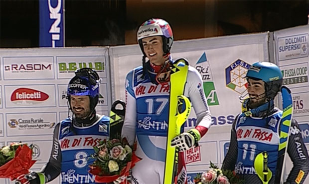 Daniel Yule beim EC-Slalom in Fassa nicht zu stoppen