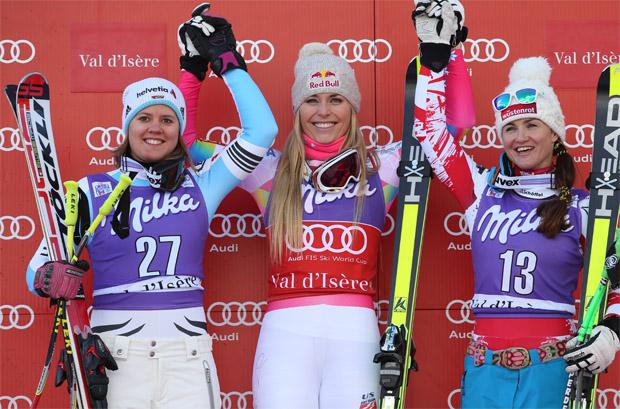 © Kraft Foods / Viktoria Rebensburg, Lindsey Vonn und Elisabeth Görgl