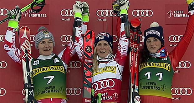 Kathrin Zettel, Eva-Maria Brem, Federica Brignone