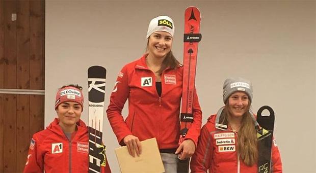 Julia Scheib, Christina Ager und Nathalie Gröbli (Foto: ÖSV)