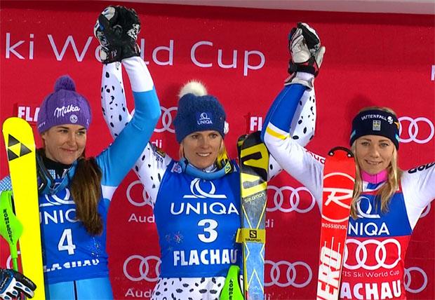Dank Slalomsieg in Flachau macht Veronika Velez Zuzulová reiche Beute