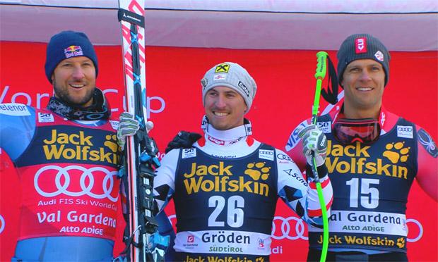 Max Franz triumphierte in Gröden vor Aksel Lund Svindal (NOR) und dem Gröden-Spezialisiten Steven Nyman.