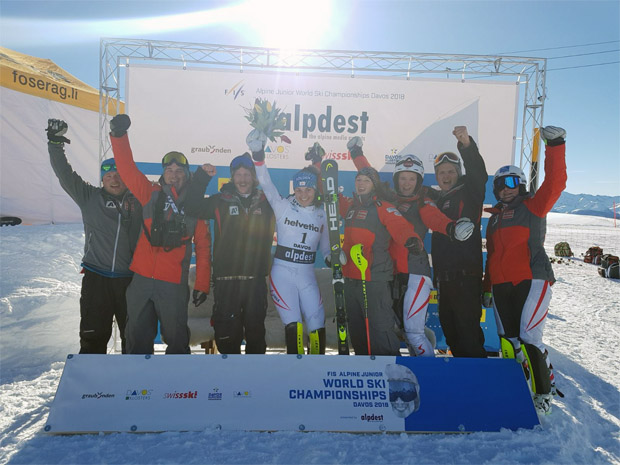 ÖSV NEWS: Franziska Gritsch holt Silber im Slalom bei der Junioren-WM 2018 in Davos (Bild: ÖSV / Christian Gerber)