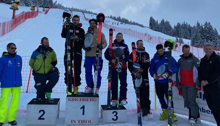 Giovanni Borsotti und Stefan Brennsteiner teilen sich Riesentorlauf Sieg in Kirchberg in Tirol (Foto: © Bardonecchia Ski/Facebook)