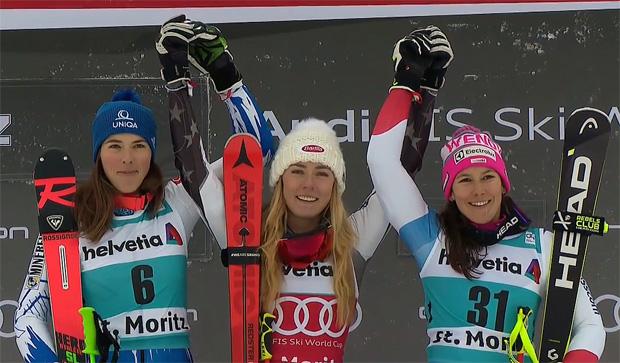 Mikaela Shiffrin gewinnt Parallelslalom in St. Moritz