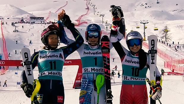 Anna Swenn-Larsson, Petra Vlhova und Franziska Gritsch