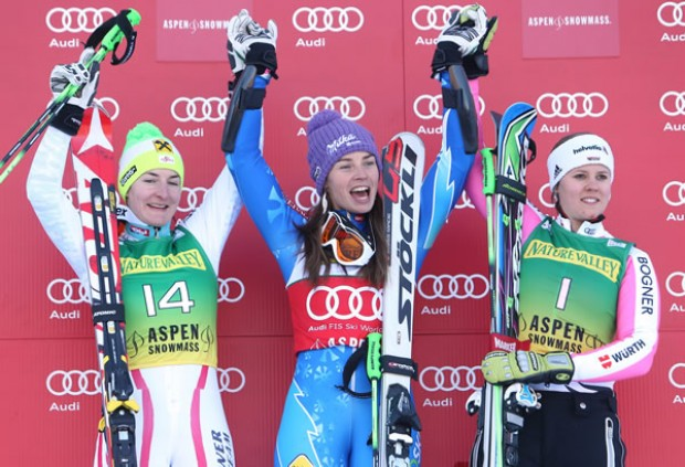 © Kraft Foods / Das Podest - Riesenslalom Damen in Aspen 2012