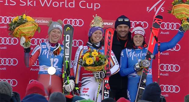 Ragnhild Mowinckel, Viktoria Rebensburg, Alberto Tomba und Federica Brignone