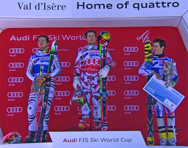 Felix Neureuther, Marcel Hirscher und Victor Muffat Jeandet