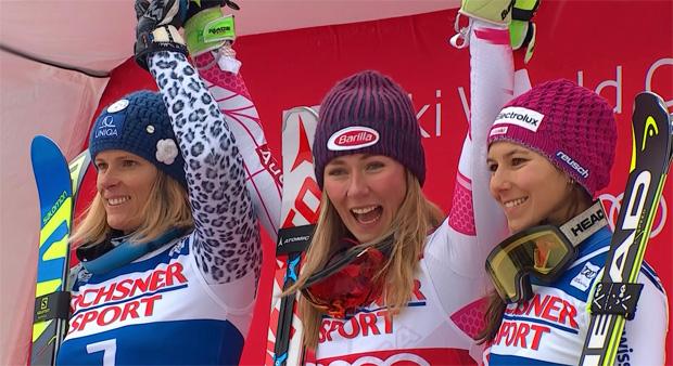 Veronika Velez Zuzulová, Mikaela Shiffrin und Wendy Holdener
