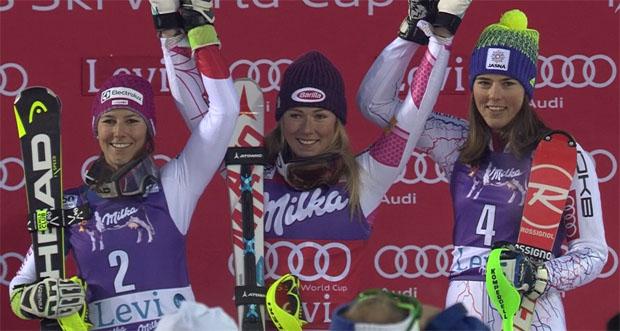 Slalom in Levi 2016: Und das Rentier gehört Mikaela Shiffrin