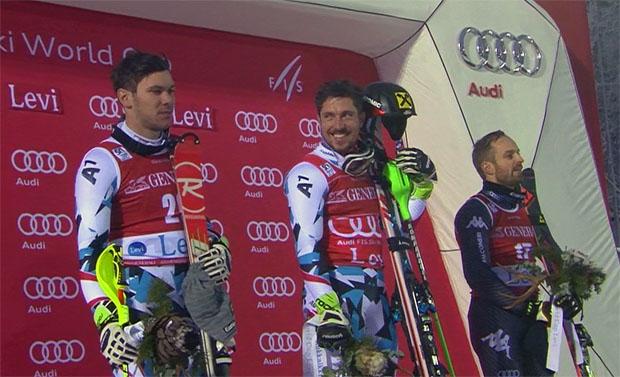 ÖSV Doppelsieg im ersten Saisonslalom (Michael Matt, Marcel Hirscher und Manfred Mölgg)