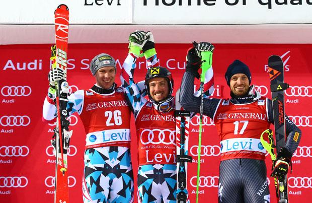 Manfred Mölgg gleich in Levi auf dem Weltcup-Podium (Fotocredit: Fischer Sports/GEPA)