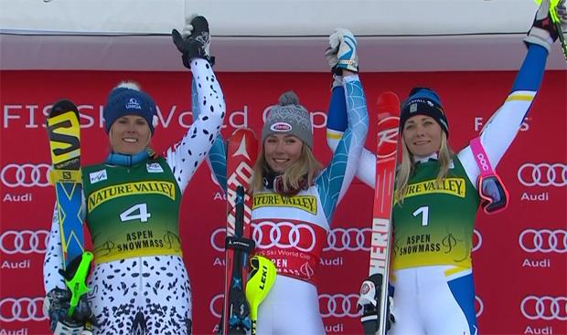Veronika Velez Zuzulová, Mikaela Shiffrin und Frida Hansdotter