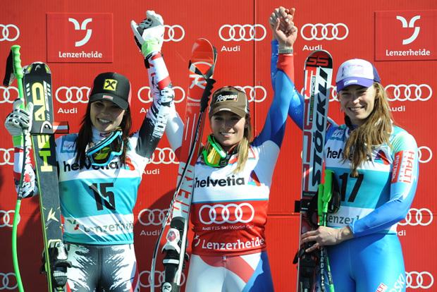 © Ch. Einecke (CEPIX) / Super G der Damen beim Weltcupfinale in Lenzerheide