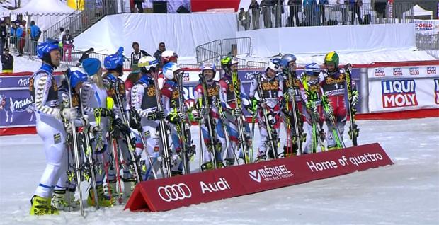 Das Siegerbild - Nationen Team Event 2015 in Méribel