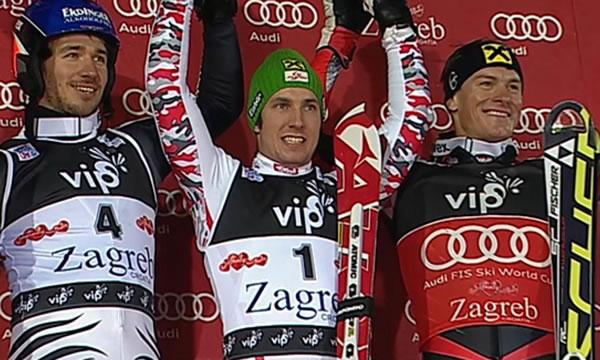 Hirscher jubelt als neuer Schneekönig in Zagreb