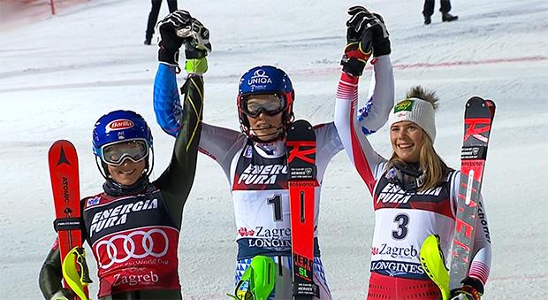 Petra Vlhová krönt sich in Zagreb zur Slalom-Snow-Queen 2020