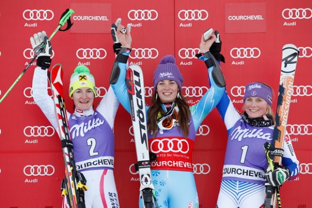 © Kraft Foods / Tina Maze gewinnt Riesenslalom in Courchevel 2012