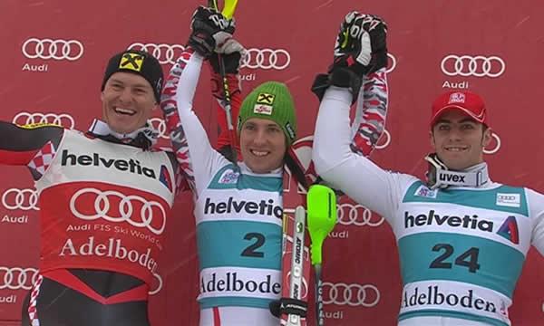 Marcel Hirscher feiert Doppelsieg in Adelboden