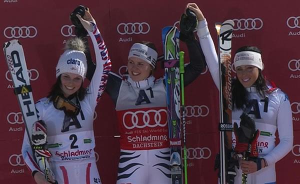 Rebensburg siegt in Schladming (AUT) und gewinnt Riesenslalom-Weltcup
