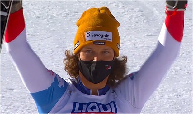 Sandro Simonet gewinnt die Schweizer Kombi-Goldmedaille